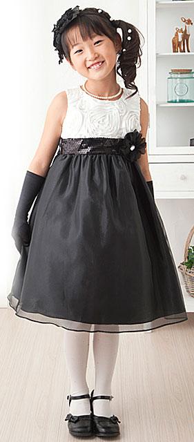 ローズモチーフツートーンソーシャルドレス
