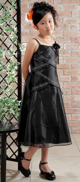 シンデレラオーガンジードレス(黒),ストッキング,ストラップフォーマルシューズ