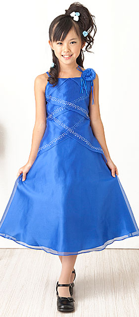 オーガンジードレス「ロイヤルブルー」