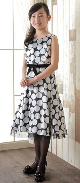 シルバードットのノースリーブドレス