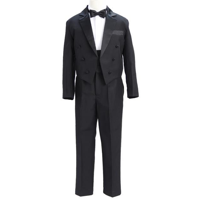 フォーマル子供用燕尾服5点セット「黒」
