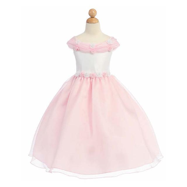 ふわふわプリンセスドレス パステルカラー「ピンク」