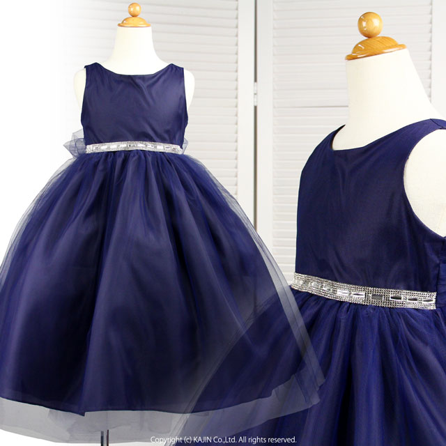 シルバービジューベルトのふんわりプリンセスドレス