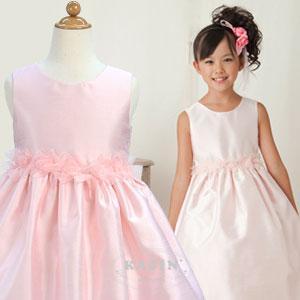 クラシックオーガンジーローズドレス「ピンク」